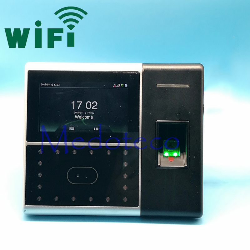 Wifi Biometric Face & Fingerprint Time Attendance Time Clock Face Attendance System Face Time Recording Iface302 Wifi
