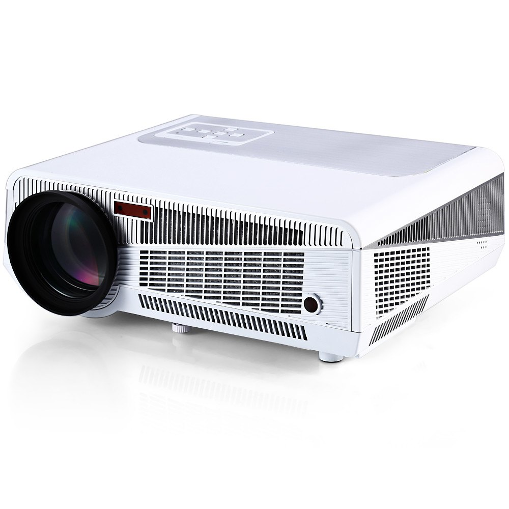 HTP LED-86+ with LED Android WiFi Projector 3600 Lumens Support HDMI RJ45 AV TV VGA USB Slot for Home Cinema Office School