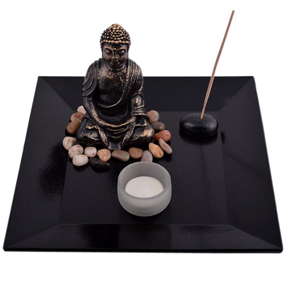 Feng Shui ZEN Garden Buddha držalo za aromatiziranje svetilke - Dekor za dom - Fotografija 2