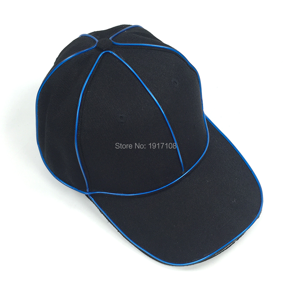 b0c3d81b215 New 2017 Fashion Party Hats Cotton Snapback LED Hats Cool light EL Wire  Baseball Caps For Bboy Hip hop Hats club Supplies-in Party Hats from Home    Garden ...