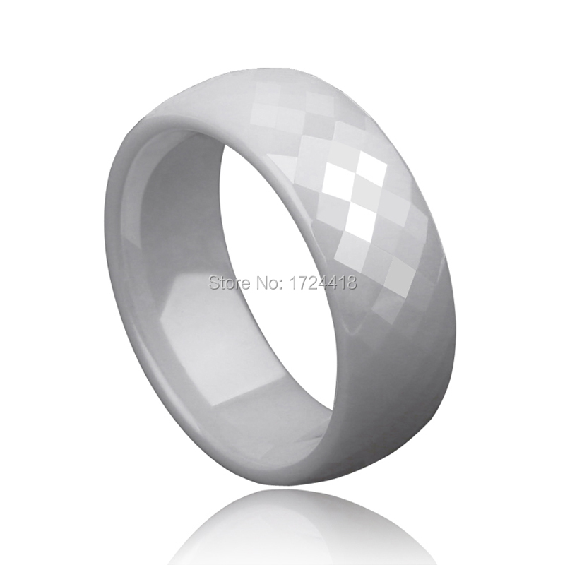 new fashion jewelry for man prism design white ceramic rings wedding band size 56 - Ceramic Wedding Rings