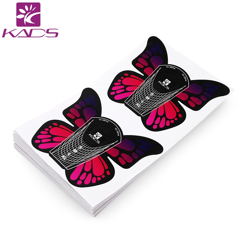 KADS 100pcs/Roll Butterfly nail forms Nail Tools Nail Sculpting Extension Forms Sticker Nail Forms UV Gel Acrylic French платье base forms base forms mp002xw1b3dq