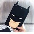 Superhero Batman Rubber Cover Coque Case For iPad 2 3 4 Durable Soft Silicone 3D Masked Batman Case For ipad Mni123 Capa Para