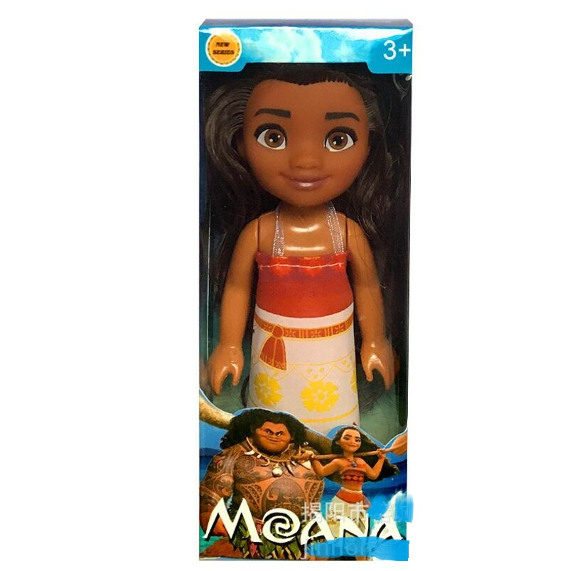 Moana Action Toy Figures 16cm Maui Chick Handan Spotted Pig Action Figures Toy PVC Model Girls Kids Lover Christmas Gift Toys