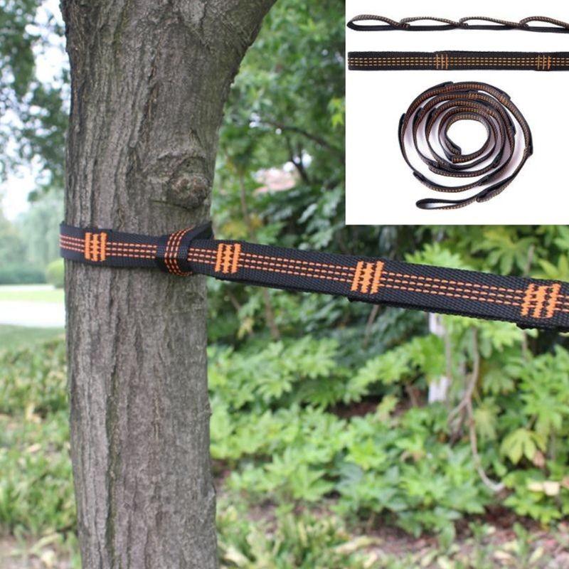 Adjustable Tree Hanging Hammock Straps Climbing Rope Aerial Yoga Hammock Belt #710