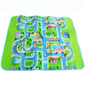 Single Side Rug Puzzle Transport 160*130*0.5cm  Maze Street Game Mat Baby Crawling Eva Foam Play Mat Baby Toys Kids Floor Carpet