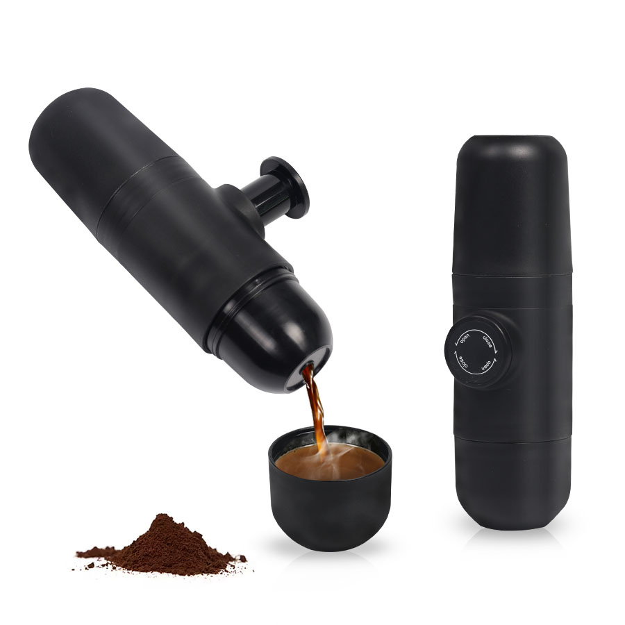 Mini Coffee Machine Hand Held Coffee Maker Portable Compact Manual Espresso Maker Hand Pressure Portable Express Coffee Maker mini sport coffee machine the hand powered portable espresso machine with high quality powder vesion