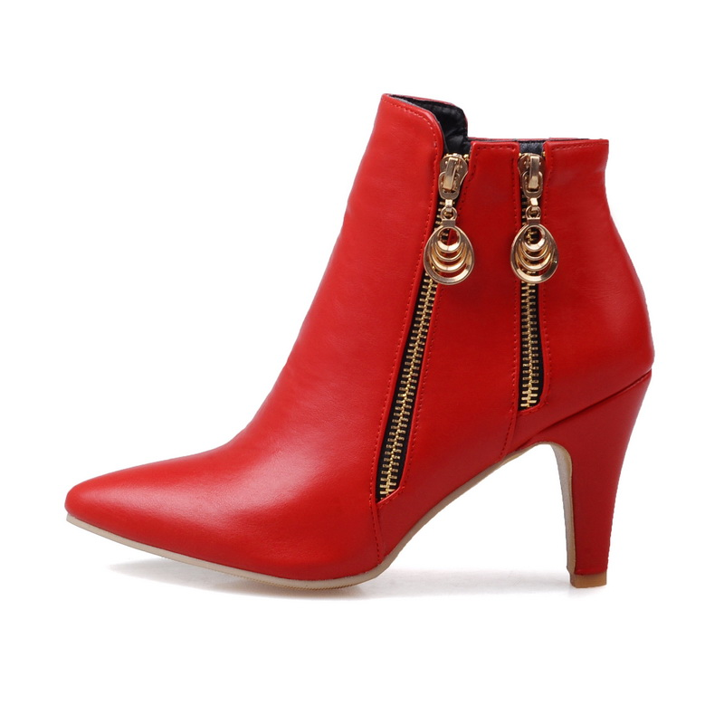 Brand New  Hot Sales Women Nude Ankle Boots Black Red White Sexy Ladies Riding Shoes High Heels EMB02 Plus Big size 32 45 11 brand new hot sales women nude ankle boots red black buckle ladies riding spike shoes high heels emb08 plus big size 32 45 11