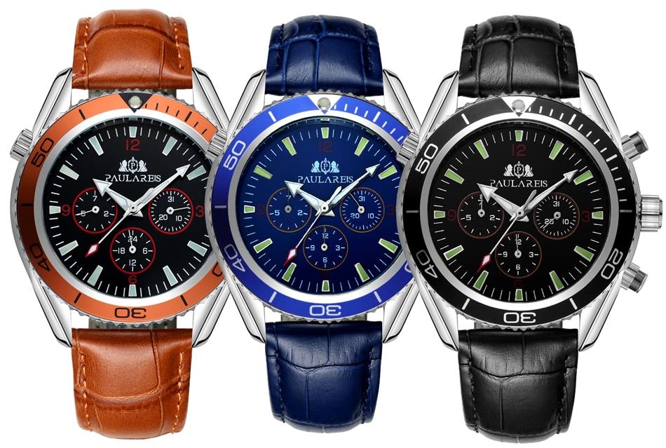 HTB1bCtZXv5TBuNjSspcq6znGFXaR Men Automatic Self Wind Mechanical Stainless Steel Strap James Bond 007 Style Orange Blue Black Dial Bezel Classic Watch