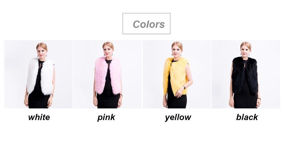 shorter knit fox vest colors
