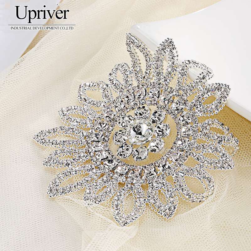 High Quality Sewing On Rhinestone Applique 10cmx10cm 1 Pcs Crystal Clear AB Color Wedding Evening Dress