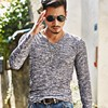 2016 Spring Autumn Winter Men Tops Fashion V Neck Slim Fit Long Sleeve T Shirt Men