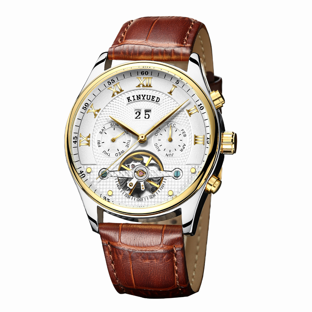 Brown men quartz white dial wristwatch top luxury watches male business fashion watch ultra thin men watch relogio masculino new ot01 watches men luxury top brand new fashion men s big dial designer quartz watch male wristwatch relogio masculino relojes
