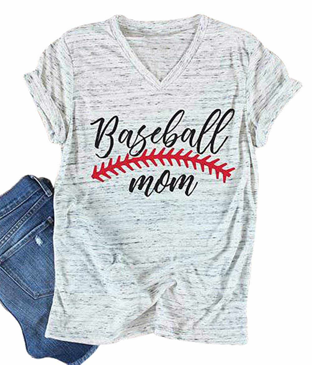 2019 Newest Wmen t shirt Baseball Mom T-Shirt Women Letter Print Funny Tops Short Sleeve Casual Tee womens clothing