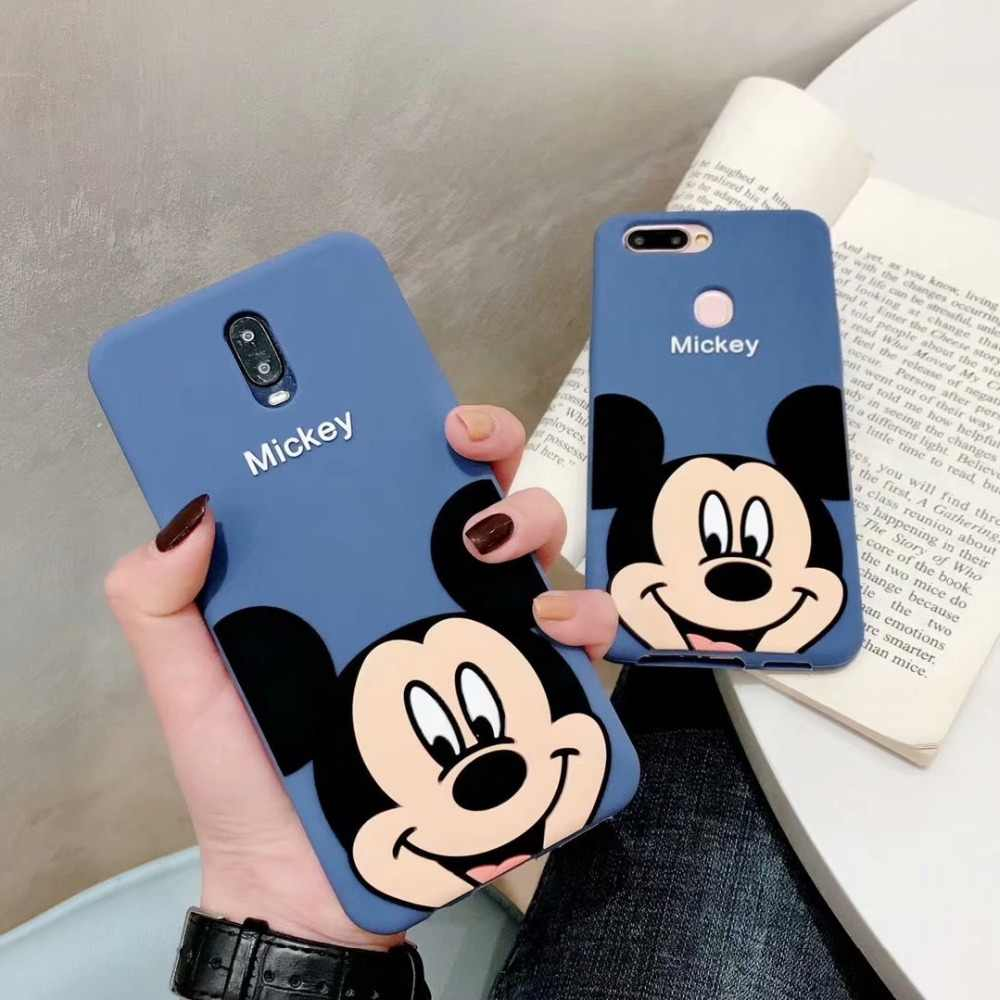 Cartoon Mickey Cute Soft Silicone Back Cover For Huawei Mate