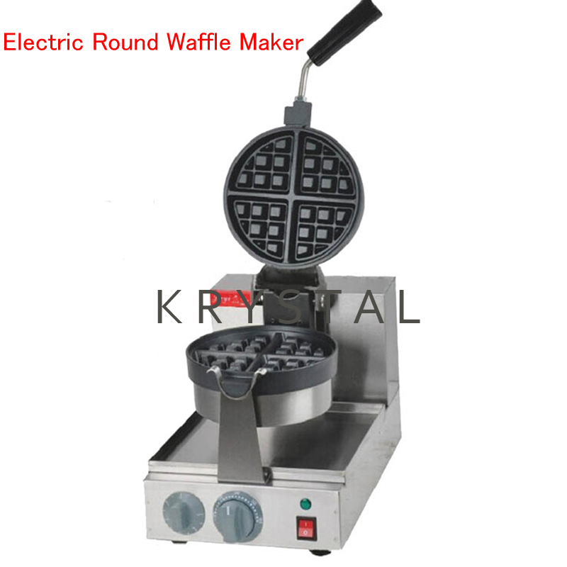 Electric Round Waffle Maker Commercial Waffle/ Muffins Machine Single Head Waffle Baking Machine FY-2205 directly factory price commercial electric double head egg waffle maker for round waffle and rectangle waffle