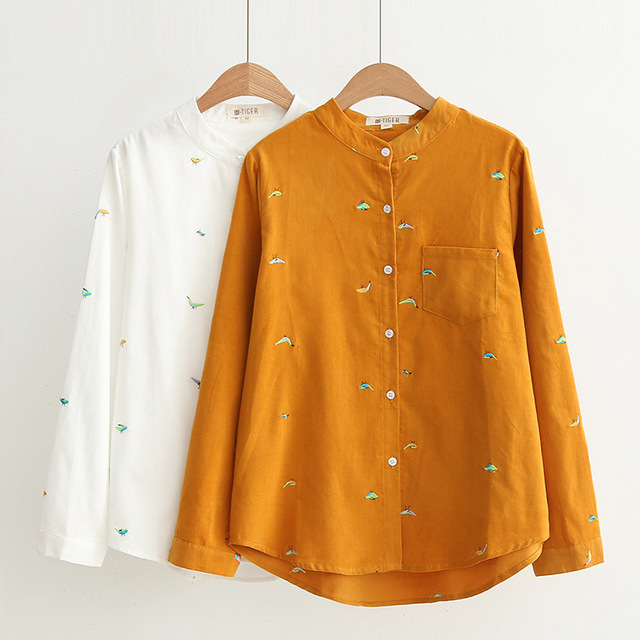 embroidered long-sleeve shirt - Yellow & Orange Etro Outlet Find Great Low Cost Cheap Online MWOaw5F