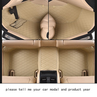 For Mazda 3 Brand Anti Abrasion Leather Car Floor Mats Black Grey Beige Brown Non Slip