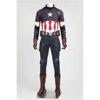 Captain America Cosplay Avengers: Age of Ultron Captain America Costume Adult Men's Halloween Carnival Cosplay Costume