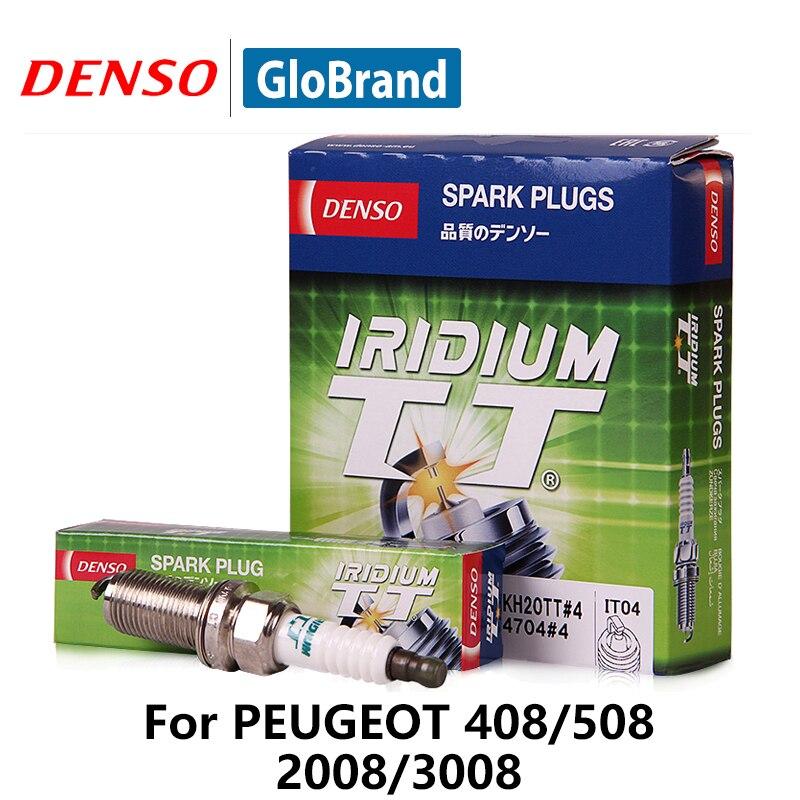 4 pièces/ensemble DENSO Fiche Voiture D'allumage Pour Peugeot 408 508 2008 3008 Citroen C5 2.0/2.3L Picasso16V Forester Iridium platine IKH20TT