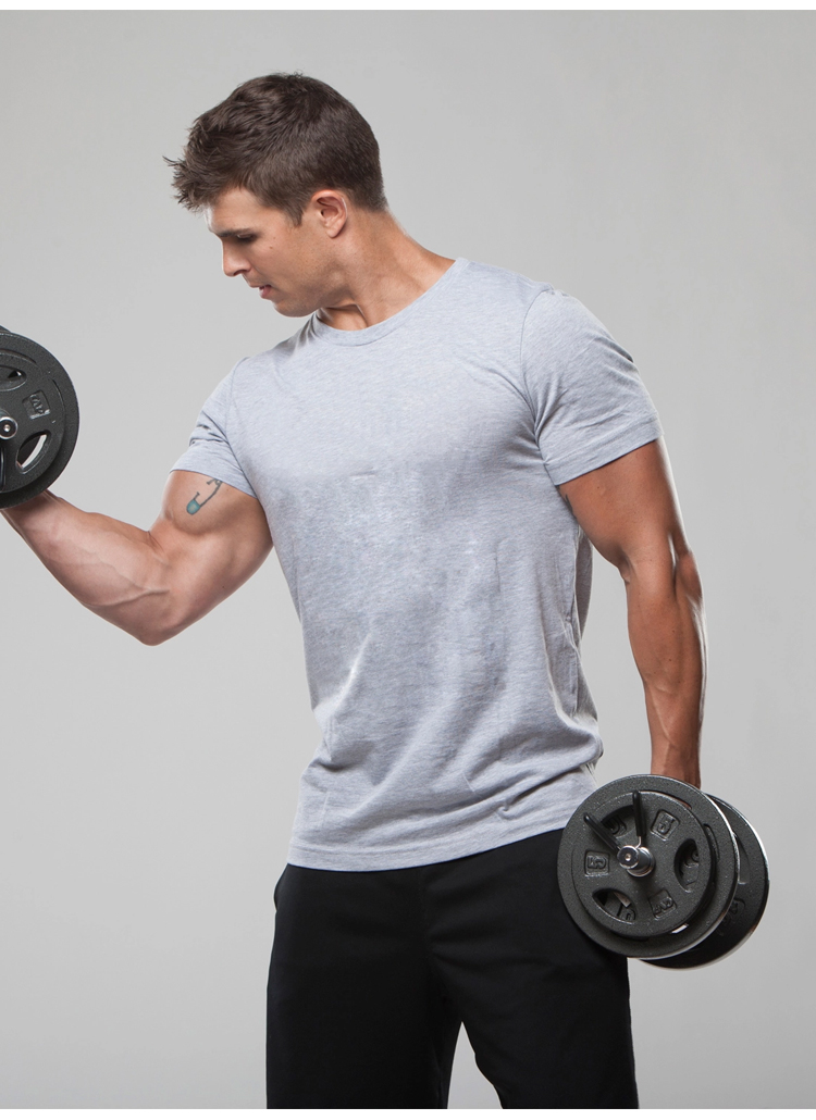 mens Gyms t shirts fashion 2017 plain Bodybuilding Fitness o-neck t shirts for men casual workout compression shirts Hip hop top