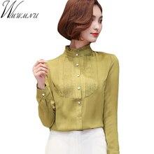 Wmwmnu New Style Lady Shirts Formal Work Blouse Size S-3XL OL Women long sleeve Shirts Chiffon Blouse Slim Fit Lady Shirts ls299