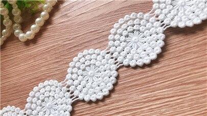 Off white venise Свадебная кружевная расшитая Ткань кружево обрезанная лента DIY материалы для шиться ремесло для украшения костюма Десять ярдов ра