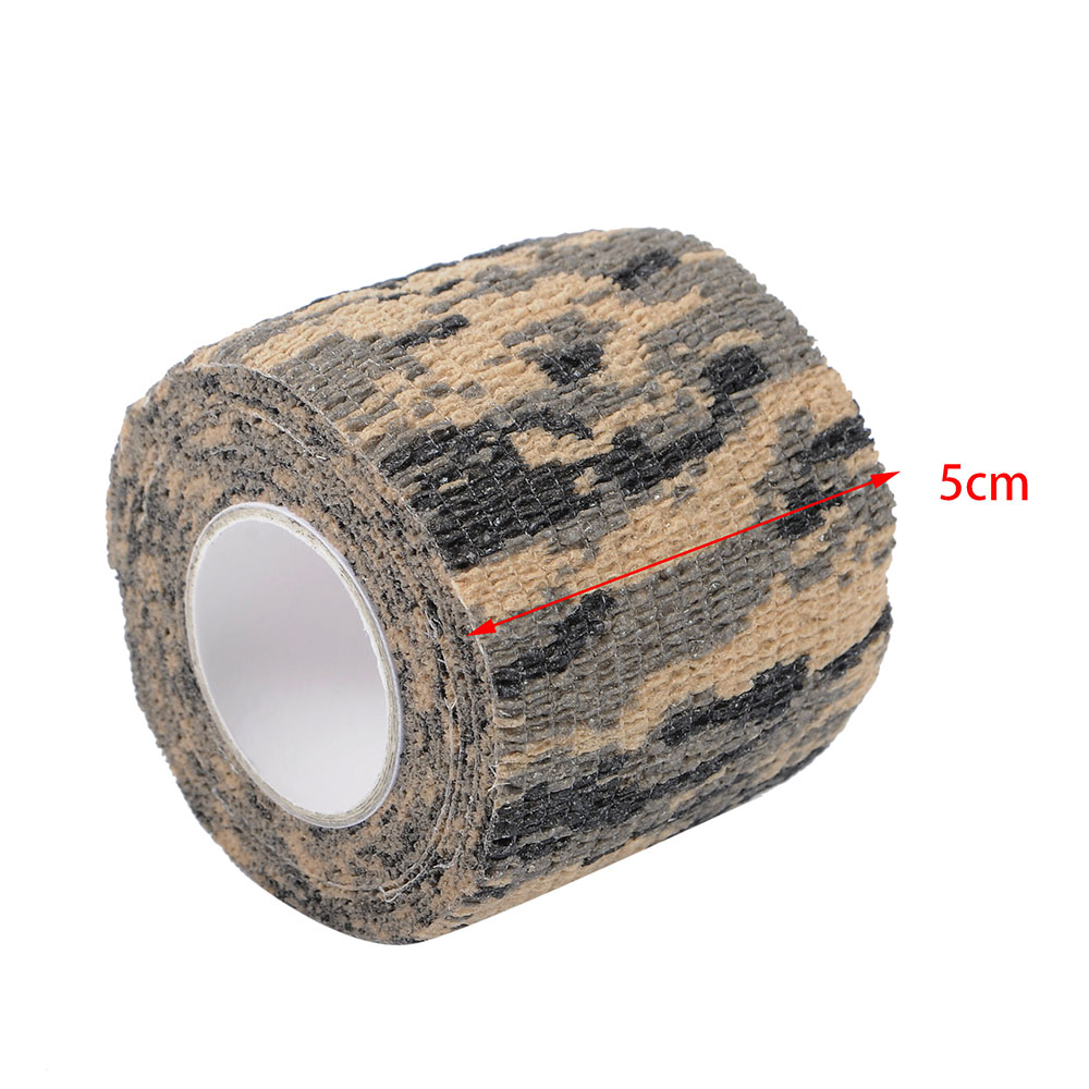 7.5cmx4.5m Army Camo Tape Hunting Shooting Military Elastic Survival Wrap Bandage Safety & Survival