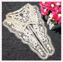 DoreenBeads 1PC Fashion Mesh Embroidery Fake Collar Flower Cotton Lace Applique DIY Women Kids Garment Accessories