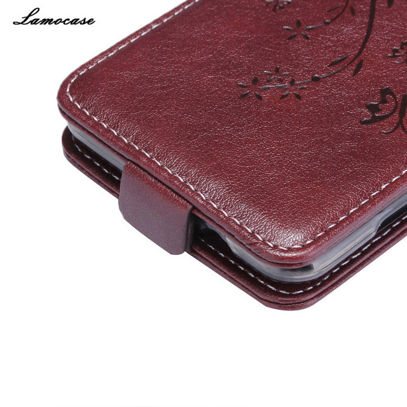 Luxury Leather Case for ZTE Blade L5 Plus Case for ZTE Blade L5 Plus Flip Cover Butterfly Embossing Wallet Card Slot Phone Bag