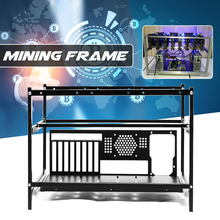 New DIY 6GPU Open Air Mining Rig Frame Miner Case Drawer Style Crypto Coin for 4 Fans Computer Mining Case Frame Server Chassis