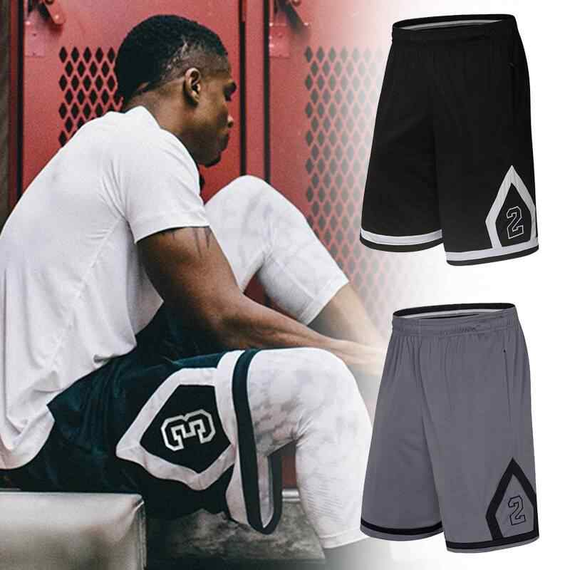 Summer Basketball Shorts Men Running Short Pants Knee Length Zipper Pocket Training Gym Sport Shorts Male Plus Size