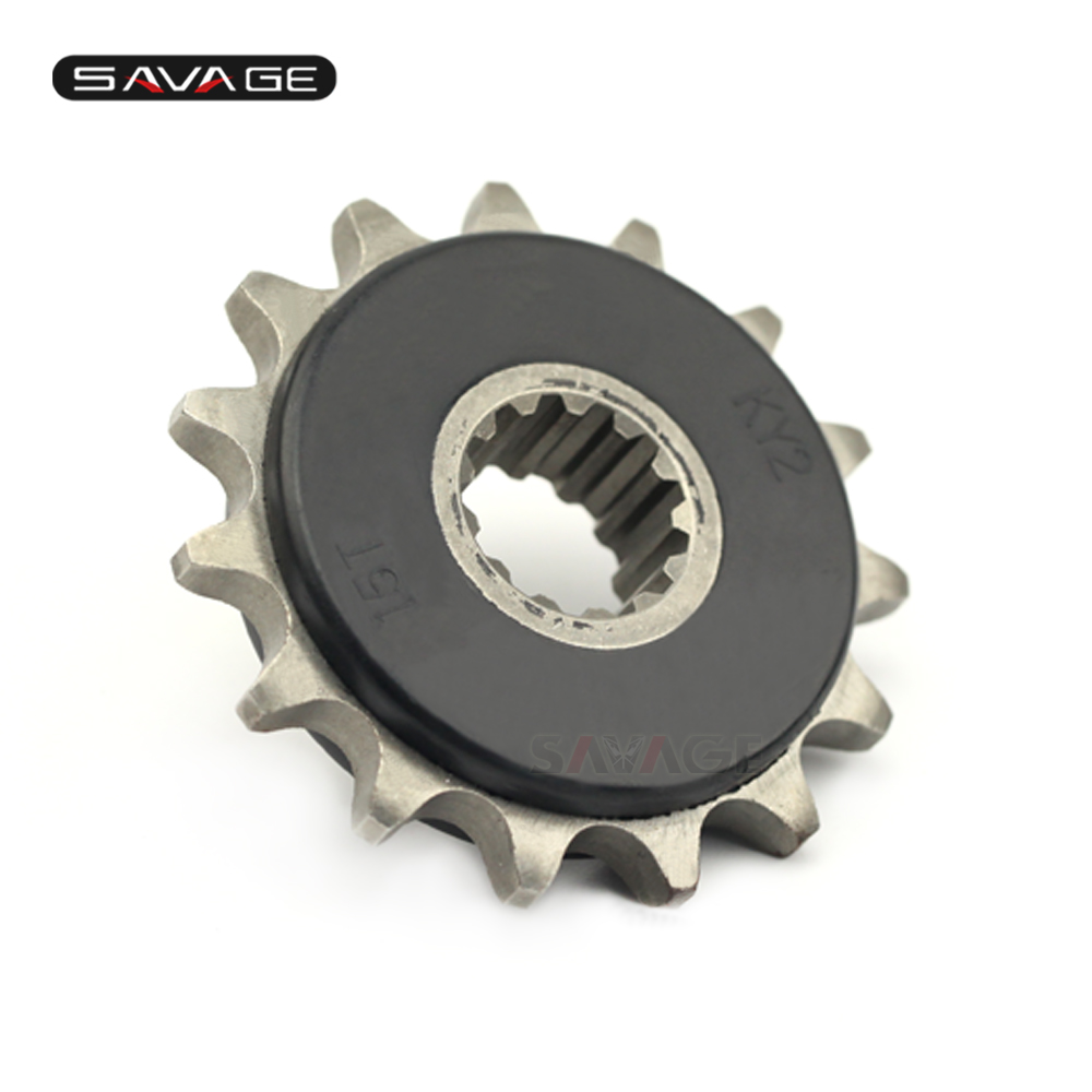 Front Sprocket Drive 15T For HONDA CB-<font><b>1</b></font> <font><b>400</b></font> CB400 SUPER FOUR/SUPER Bol Dor/<font><b>V</b></font>-TEC CBF 500 CB 500/S Motorcycle Accessories image