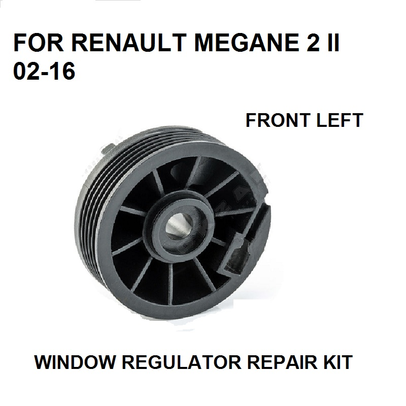 2002-2016 FOR RENAULT MEGANE 2 II WINDOW REGULATOR PULLEY ROLLER FRONT LEFT REPAIR KIT NEW