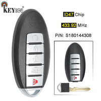 KEYECU 433.92MHz ID47 Chip S180144308 Replacement Smart Remote Car Key Fob 5 Button for Nissan Murano 2015 Pathfinder 2014 2015