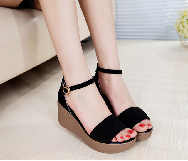 2d4b4180c8215 Superior Quality Summer style comfortable Bohemian Wedges Women sandals for Lady  shoes high platform open toe flip flops Plus