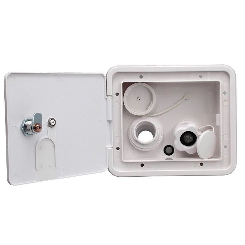 Universal controllable White Gravity Water Hatch/water intake Fill Dish Lock Keys RV Trailer Camper-in RV Parts & Accessories from Automobiles & Motorcycles    1
