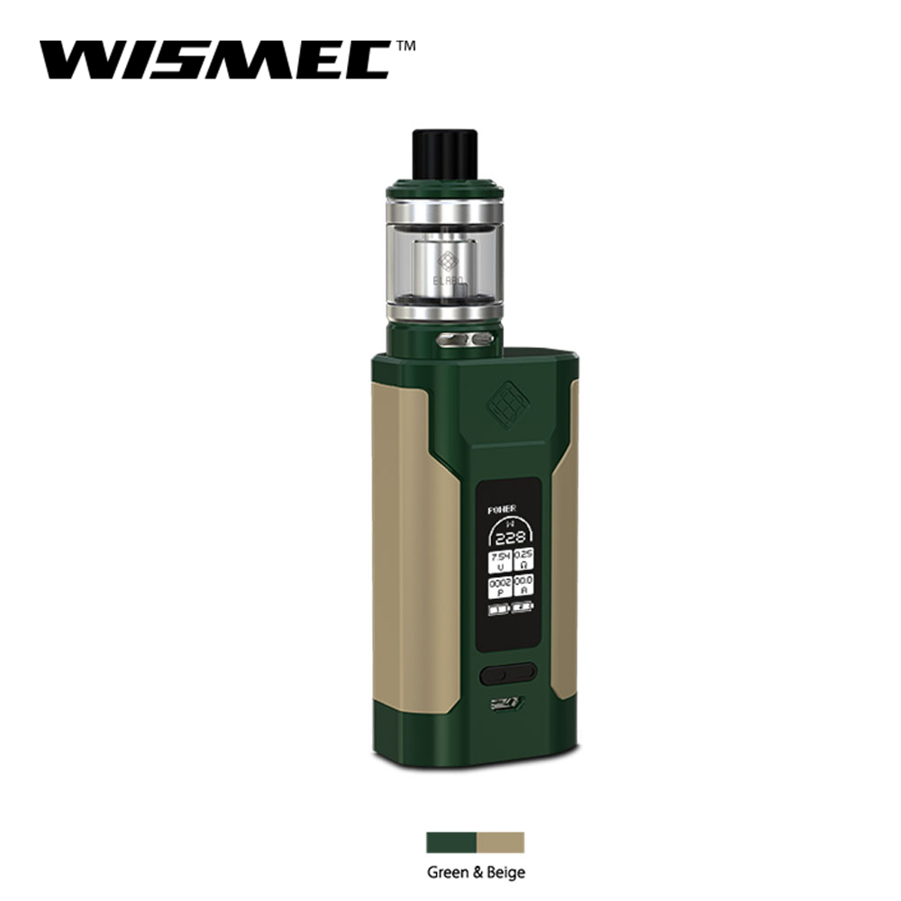 [Official Store] Wismec SINUOUS Predator 228 box mod with Elabo Tank 4.9ml Capacity Electronic cigarette vape mod and kit-in Electronic Cigarette Mods from Consumer Electronics    3