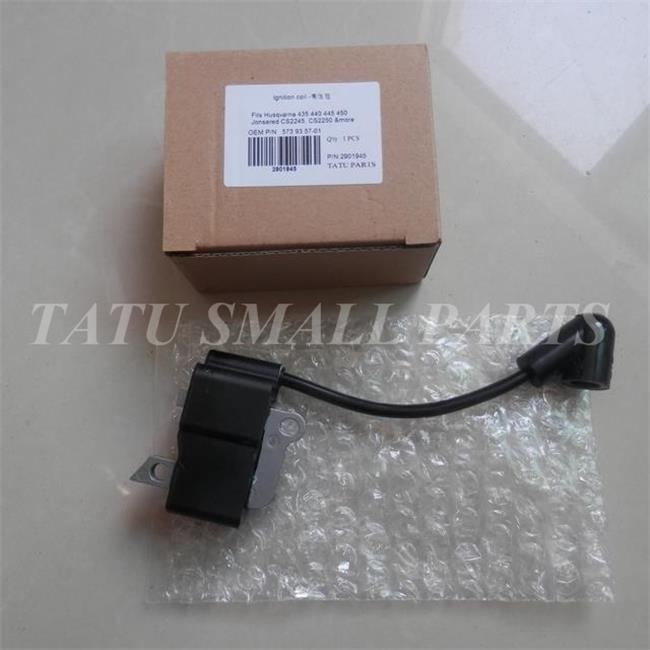 IGNITION COIL FOR HUS.  CHAINSAW 435 440 445 450 450E JONSERED CS2245 CS2250 HIGH VOLTAGE SET MAGNETO ASSY CHAIN SAW PARTS p351 ignition coil for partner 351 350 370 371 390 420 440 poulan stator chainsaw magneto ignitor
