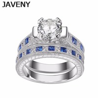925 Sterling Silver Princess CZ Cubic Zirconia Womens Girls Ladies Engagement Wedding Bridal Rings Sets Mothers Birthday Gifts