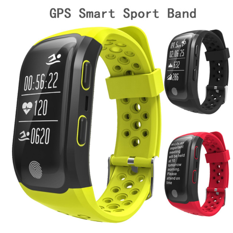 2017 Newest S908 GPS Sport Smart Band Heart Rate IP68 Waterproof Sleep Monitor Pedometer Smart Bracelet For Android IOS Phone P2 smart wristwatch band smart bracelet watch heart rate pedometer sleep monitor bluetooth calorie counter for android and ios e