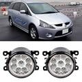 Carro-styling para mitsubishi grandis na_w 2002-2012 escolhas 9-pieces levaram luzes de nevoeiro h11 h8 12 v 55 w fog head lamp