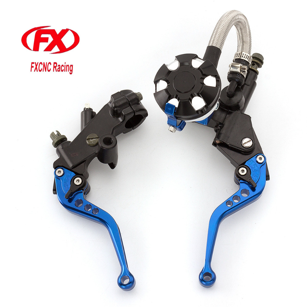 FX CNC 7/8 Motorcycle Brake Clutch Lever Master Cylinder Reservoir Hydraulic For Kawasaki NINJA 250R 2008 - 2012 Z250 2013-2014 for kawasaki ninja 250 ninja250 2008 2015 ninja 300 ninja300 2013 2015 motorcycle aluminum short brake clutch levers black