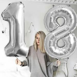 Image 3 - Sapatos de prata 18 balões para decoração, balões de metal para decoração de festas de aniversário adulto e festa de feliz aniversário 40 peças