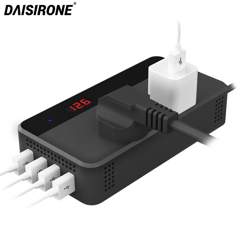 Auto Inverter Power DC 12 v 220 v 200 watt Power Inverter Spannung Konverter Mit 4 USB Buchse Ladegerät Automobil zigarette Leichter