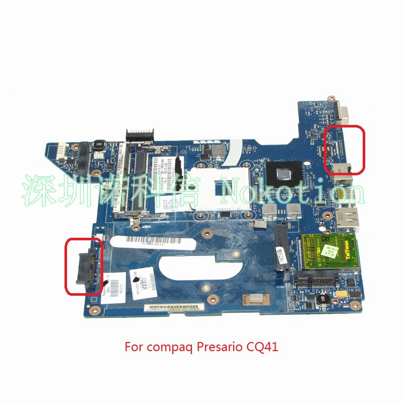 NOKOTION 590330-001 NAL70 LA-4106P For hp compaq Presario CQ41 Laptop motherboard HM55 DDR3 nokotion 646176 001 laptop motherboard for hp cq43 intel hm55 ati hd 6370 ddr3 mainboard full tested