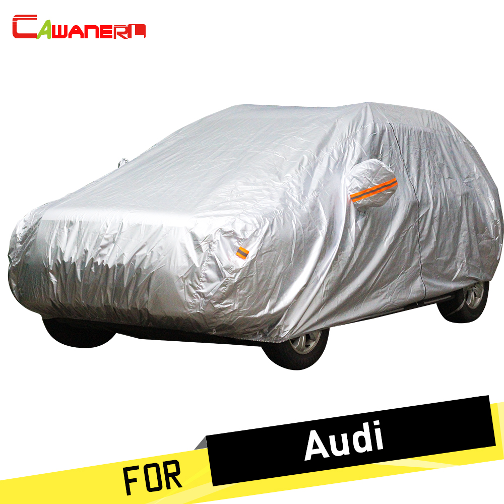 Cawanerl Car Cover Anti UV Sun Snow Rain Frost Resistant Dust Proof Cover For Audi A7 Allroad Q3 Q5 Q7 RS3 RS4 RS5 RS6 RS7 S3