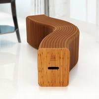 Бумага для рукоделия складной стул скамья бумага мебель орган образный стул идеально подходит для дома/Открытый Декор скамья сиденье длинн