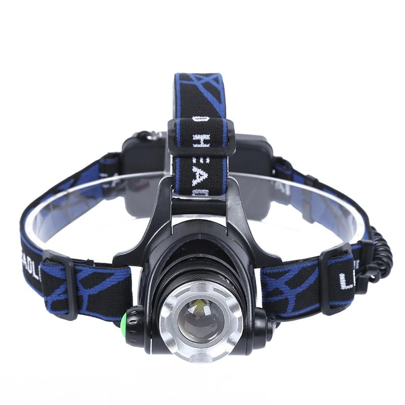 Frontālās Led Portable lukturītis Searchlight XML T6 LED lukturu - Portatīvais apgaismojums