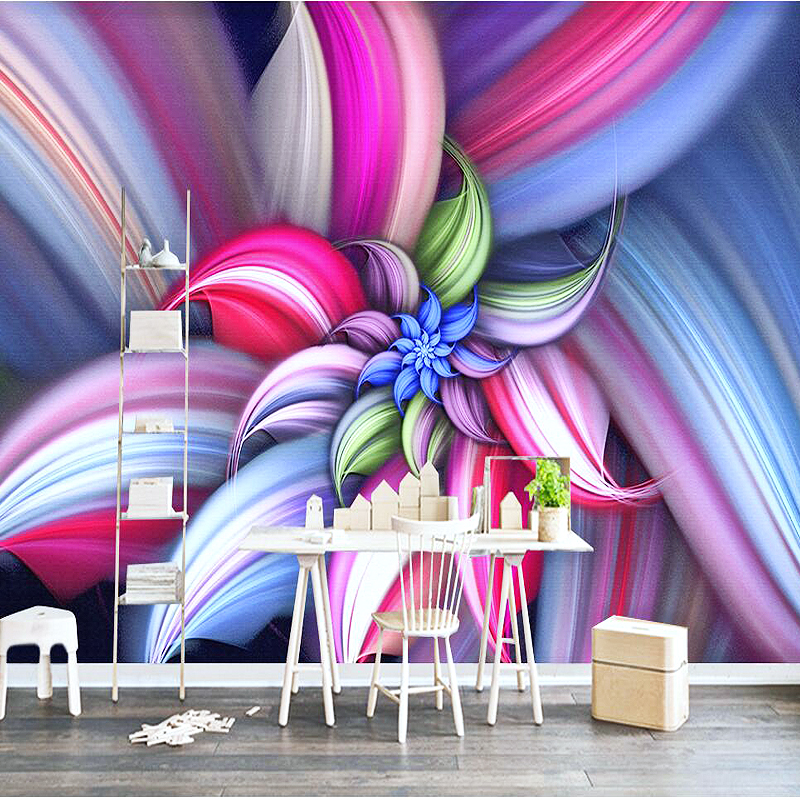 Custom 3D Photo Wallpapers Modern Flower Wall Mural Wall Paper Sofa TV Background Living Room Non-woven Fabric Wallpaper Bedroom 3d modern wallpapers home decor flower wallpaper 3d non woven wall paper roll bird trees wallpaper decorative bedroom wall paper